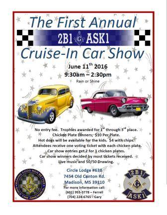 CruiseIn Car Show Circle Lodge The Grand Lodge Of - Cruise car show